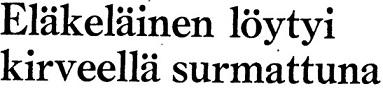 Kirves Kale